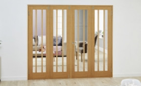 Lincoln Oak - 4 Door Frenchfold (4 X 610mm Doors ) Image