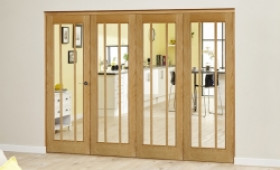Lincoln Oak 4 Door Roomfold Deluxe (4 X 610mm Doors) Image