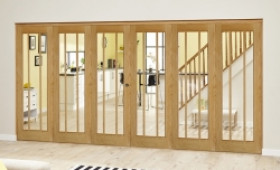 Lincoln Oak 6 Door Roomfold Deluxe (3 + 3 X 610mm Doors) Image
