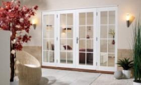 Softwood White French Doors 8 Lite Image