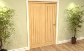 Mexicano Oak 2 Door Roomfold Grande (2 + 0 X 610mm Doors) Image