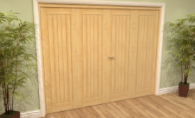 Mexicano Oak 4 Door Roomfold Grande (2 + 2 X 533mm Doors) Image