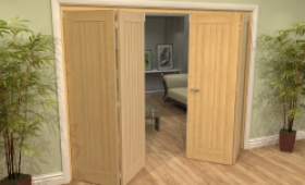 Mexicano Oak 4 Door Roomfold Grande (2 + 2 X 610mm Doors) Image