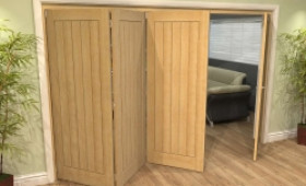 Mexicano Oak 4 Door Roomfold Grande (3 + 1 X 762mm Doors) Image