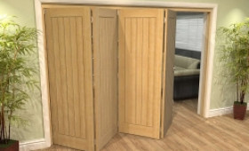 Mexicano Oak 4 Door Roomfold Grande (4 + 0 X 762mm Doors) Image