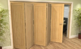 Mexicano Oak 5 Door Roomfold Grande (5 + 0 X 610mm Doors) Image