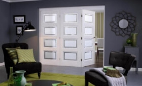 Nuvu Roomfold Contemporary White 4 Lite Range Image