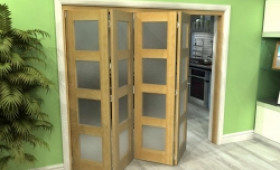 Oak 4l Roomfold Grande - Frosted Unfinished Image