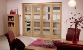 Oak Prefinished 4 Light Bifold Door ( 4 X 2