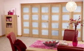 Oak Prefinished 4l Interior Bifold Door (6 Door 3+3 X 2