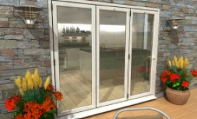 Part Q 2400mm White Aluminium Bifold Doors - Climadoor Image
