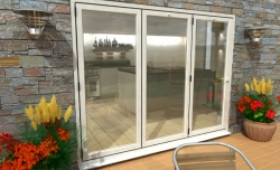 Part Q 2700mm White Aluminium Bifold Doors - Climadoor Image