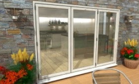 Part Q 3000mm ( 3 + 0 ) White Aluminium Bifold Doors - Climadoor Image