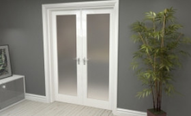 "Obscure White French Door Set  - 27"" Pair Image"