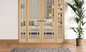 W6 Lincoln Oak Internal Room Divider Set With Sidelights Image