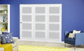 White 4l Frosted Roomfold Deluxe ( 3 X 610mm Doors ) Image