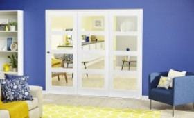 White 4l Roomfold Deluxe ( 3 X 686mm Doors ) Image