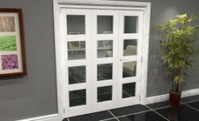 White 4l Roomfold Grande (2 + 1 X 610mm Doors) Image