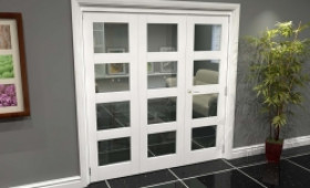 White 4l Roomfold Grande (2 + 1 X 686mm Doors) Image