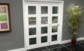 White 4l Roomfold Grande (3 + 0 X 610mm Doors) Image