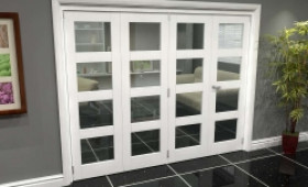 White 4l Roomfold Grande (3 + 1 X 610mm Doors) Image