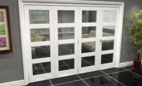 White 4l Roomfold Grande (3 + 1 X 686mm Doors) Image