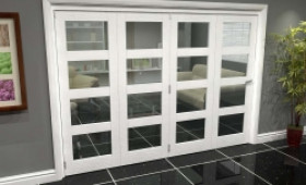 White 4l Roomfold Grande (4 + 0 X 686mm Doors) Image