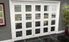 White 4l Roomfold Grande (4 + 1 X 686mm Doors) Image