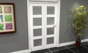 White Frosted 4l Roomfold Grande (2 + 0 X 573mm Doors) Image