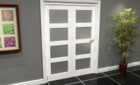 White Frosted 4l Roomfold Grande (2 + 0 X 762mm Doors) Image