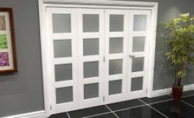 White Frosted 4l Roomfold Grande (3 + 1 X 610mm Doors) Image