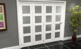 White Frosted 4l Roomfold Grande (4 + 0 X 533mm Doors) Image