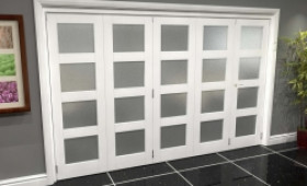 White Frosted 4l Roomfold Grande (4 + 1 X 762mm Doors) Image