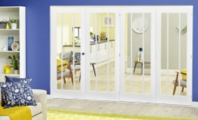 White Lincoln Roomfold Deluxe ( 4 X 686mm Doors) Image