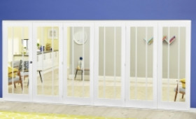 White Lincoln Roomfold Deluxe ( 5 + 1 X 686mm Doors) Image