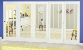 White Lincoln Roomfold Deluxe ( 5 X 610mm Doors) Image