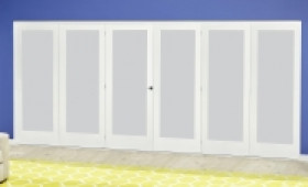 White P10 Frosted Roomfold Deluxe ( 3 + 3 X 610mm Doors ) Image