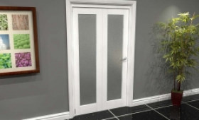 White P10 Frosted Roomfold Grande (2 + 0 X 533mm Doors) Image