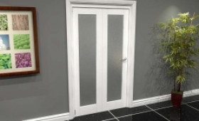 White P10 Frosted Roomfold Grande (2 + 0 X 686mm Doors) Image