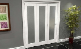 White P10 Frosted Roomfold Grande (3 + 0 X 533mm Doors) Image