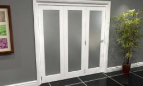 White P10 Frosted Roomfold Grande (3 + 0 X 610mm Doors) Image