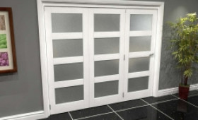 White P10 Frosted Roomfold Grande (3 + 0 X 686mm Doors) Image