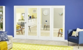 White P10 Roomfold Deluxe ( 4 X 686mm Doors ) Image