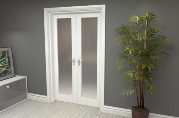 Obscure White French Door Set  - 22.5
