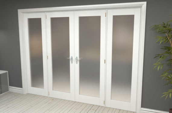 Obscure White French Door Set  - 24