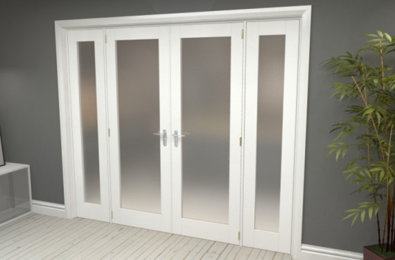 Obscure White French Door Set - 27