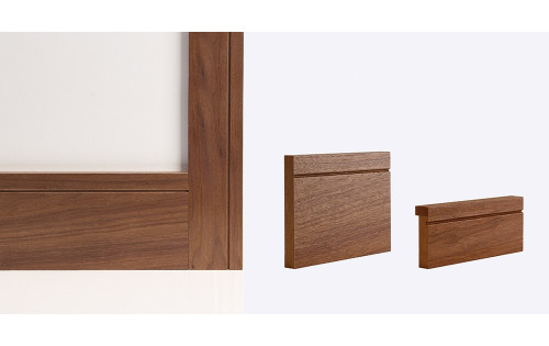 Walnut Shaker Door Lining Skirting & Architrave