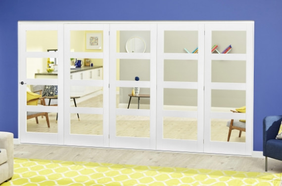 White 4l Roomfold Deluxe ( 5 X 610mm Doors )