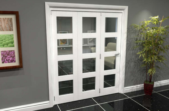 White 4l Roomfold Grande (3 + 0 X 610mm Doors)