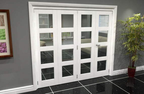 White 4l Roomfold Grande (3 + 1 X 533mm Doors)